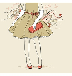 Girl fashion background vector
