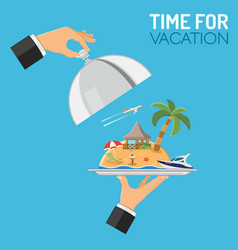 Vacation and trip concept vector