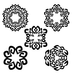 Set of different ethnic signs vector