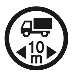 Maximum vehicle length sign line icon vector