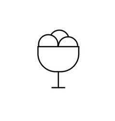 Ice cream in the plate icon vector