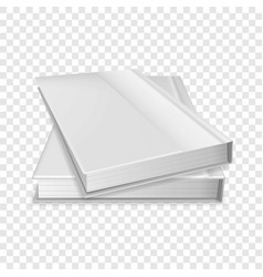 Two diaries icon realistic style vector