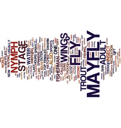 The mayfly adult text background word cloud vector