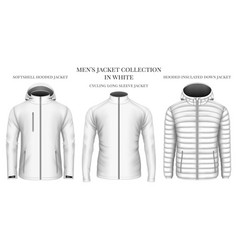 Mens jackets collection vector