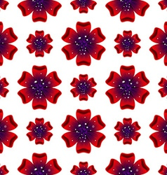 Beautiful rad flower seamless floral pattern vector