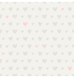 Seamless pattern with hearts in pastel colors vector image