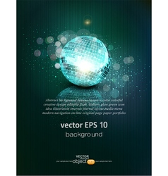 background with a mirror ball and reflection vector image