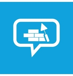 Building wall message icon vector