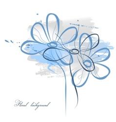 Floral watercolor vector