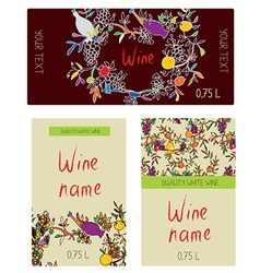 Wine labels set - funny desig vector
