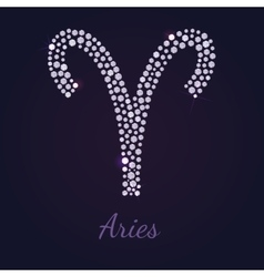 Diamond zodiac aries vector
