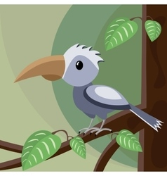 Blue bird on the tree vector
