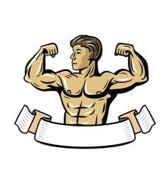 color bodybuilder vector image