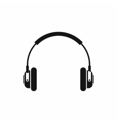 Headphones icon in simple style vector