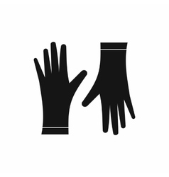 Protective gloves icon simple style vector