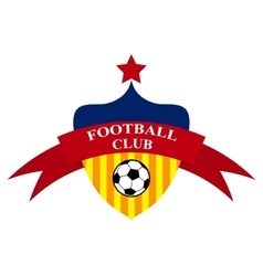 Logo design football club vector