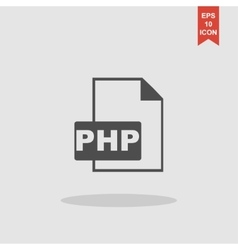 Php file extension concept for vector