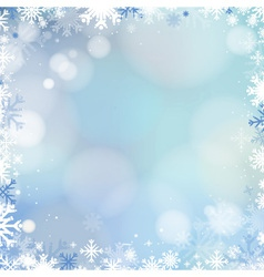Abstract holiday Christmas blue light background vector image