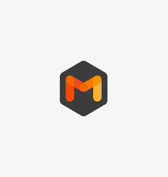 abstract letter m logo design template creative vector image