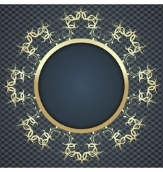 beautiful elegant card background with gold vector image