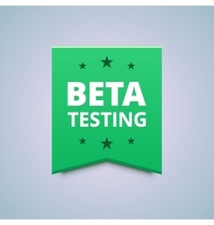 Beta testing badge vector
