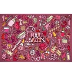cartoon set of Nail salon theme objects vector image vector image