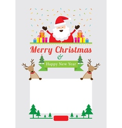Christmas characters frame vector