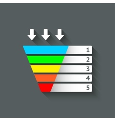 Color marketing funnel symbol vector