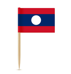 Flag of laos flag toothpick on white background vector