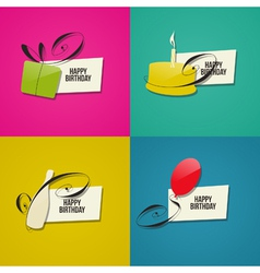 Happy birthday greeting cards vector