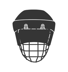 Hockey head helmet protection vector