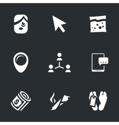 Icons Set of smoking drug vector image