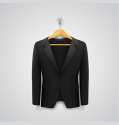 jacket on a hanger vector image vector image