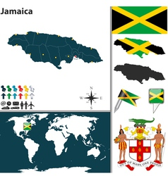 Jamaica map vector image