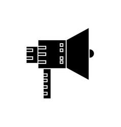 loudspeaker color icon sig vector image