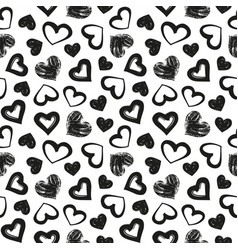 love theme hearts valentines day seamless vector image vector image