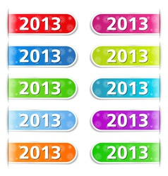 New Year 2013 Tabs vector image