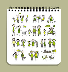 notebook design people set vector image vector image