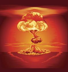 Nuclear explosion mushroom cloud vector
