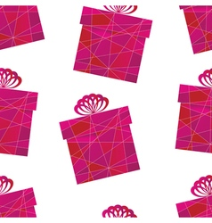 pattern with a box vector image