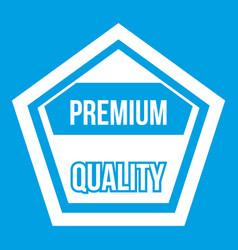 Premium quality label icon white vector