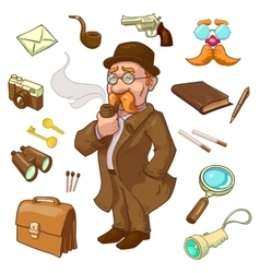 Private Eye Character vector image vector image