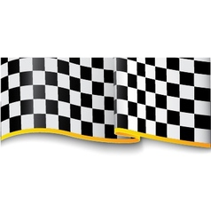 Race background checkered black and white vector
