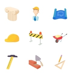 Repair icons set cartoon style vector