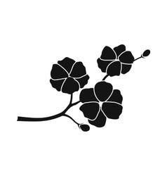 Sakura icon simple style vector image