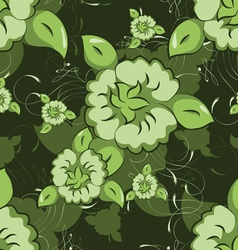 seamless flowers and leaves vector image vector image