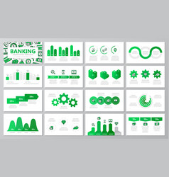 set of bank and money elements for multipurpose vector image