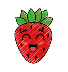 Strawberry funny cartoon vector