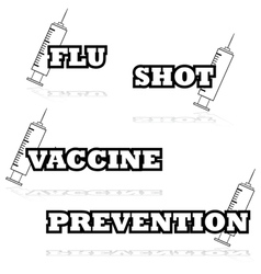 Vaccine icons vector