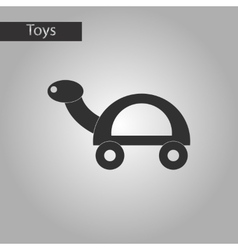 black and white style toy turtle vector image